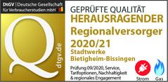 Herausragender Regionalversorger 2020/21 Strom+Gas