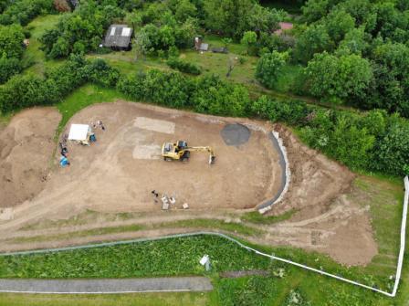 Drohnenaufnahme vom zukünftigen Funpark