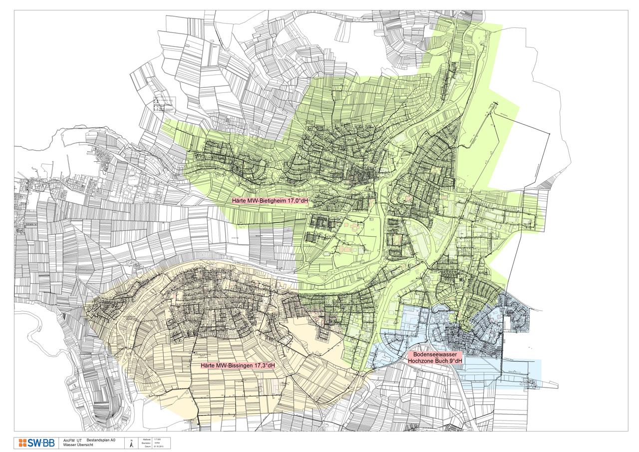 Zonenplan Wasserhärte