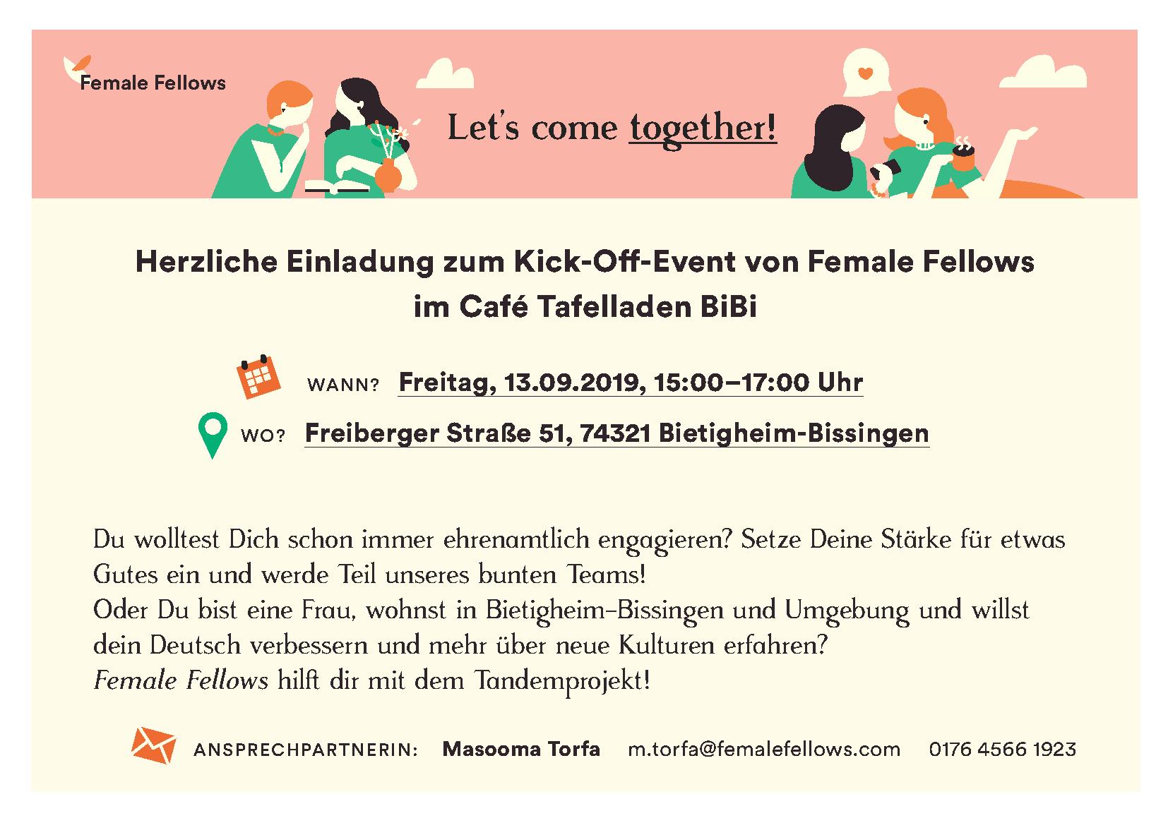 "Einladung zum Kickoff-Termin bei ""Female Fellows"""